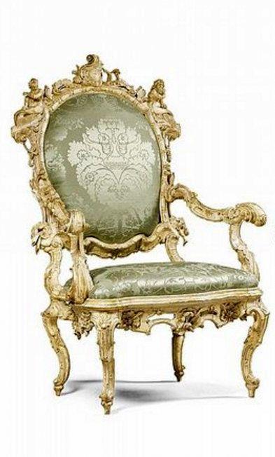 A PAIR OF ITALIAN IVORY PAINTED CARVED ARMCHAIRS, VENETIAN CIRCA 1730 ·  European FurnitureItalian FurnitureFurniture StylesDrawing ...