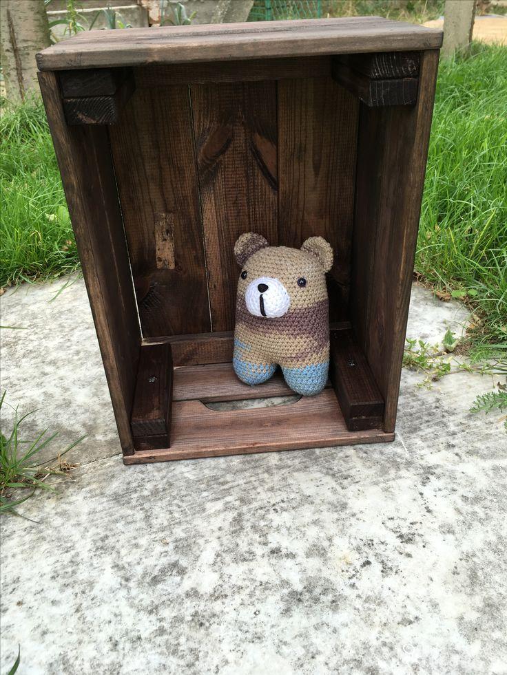 Háčkovaný medvedík  #crochet #bear #crochettoy