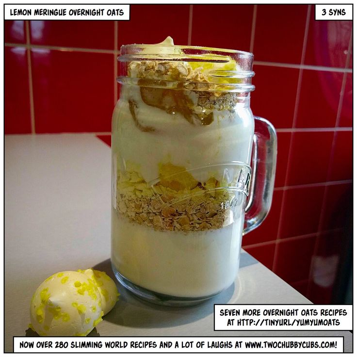 PLEASE LIKE AND SHARE! Lemon meringue overnight oats? Crunchy, tangy, filling and sweet overnight oats? Perfect for Slimming World? Yeah, we've got you covered...Remember, at www.twochubbycubs.com we post a new Slimming World recipe nearly every day. Our aim is good food, low in syns and served with enough laughs to make this dieting business worthwhile. Please share our recipes far and wide! We've also got a facebook group at www.facebook.com/twochubbycubs - enjoy!