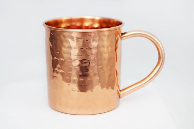 14 oz Hammered Copper Mug