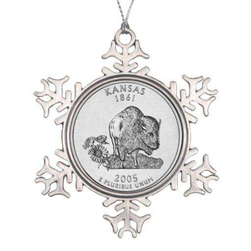 Kansas State Quarter Ornament