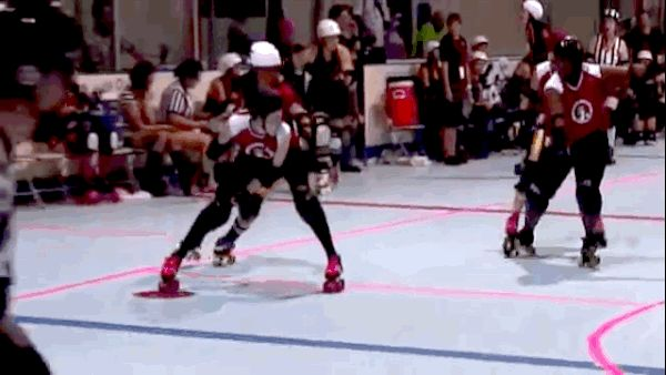 You Should Be Watching More Roller Derby Footage - this is pretty much my favorite take-down ever.