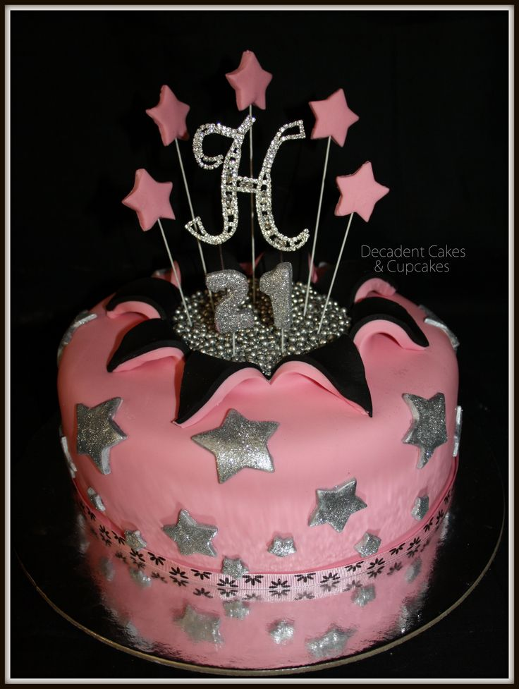 Pink & Black Theme Party - Haylee The Birthday Girl decided on a Gorgeous Lemon Cake !! Made By Decadent Cakes & Cupcakes