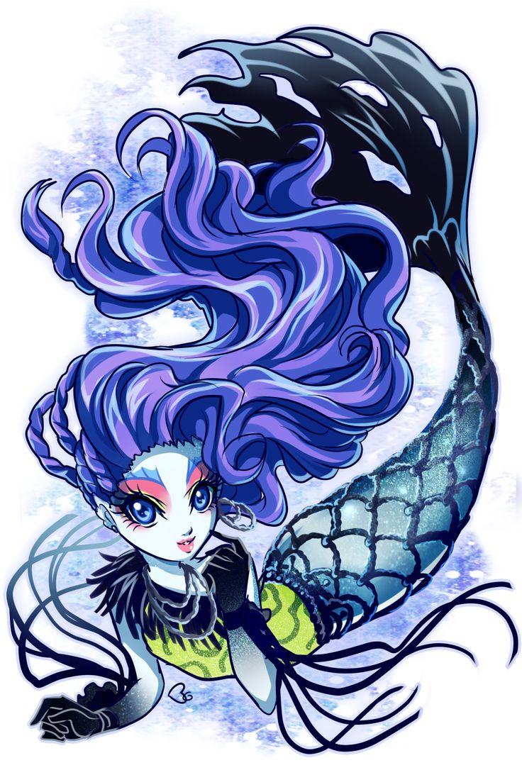 Monster High Sirena Von Boo fanart..So Pretty!