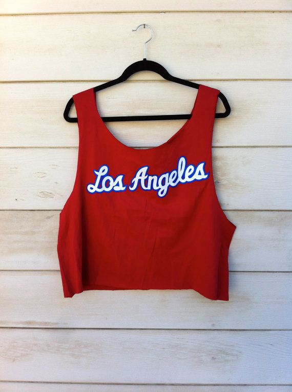 Vintage Clippers Basketball Cut Off Tank by ClosetCreep on Etsy