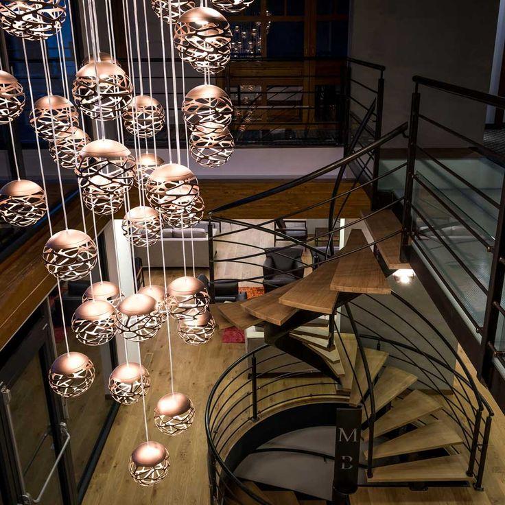 Kelly Cluster Bronze  Golf Club Maison Blanche. Pays de Gex, France  Project by Byzance Design #kellycluster http://bit.ly/1U9C9up #kellycluster #golfclub #interiorideas #homedecor #bronze #designthinking  #decoration #interiordecor #decoridea #idea #arredamento #lightingidea #light #decorhome #lighting #lamps #suspensionlamp #light #lighidea