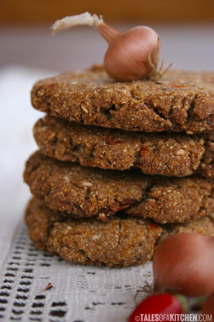 crispy and delicious carrot onion and cumin biscuits that go with everything