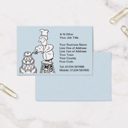 #Wedding Cake Makers Business Card - customized designs custom gift ideas