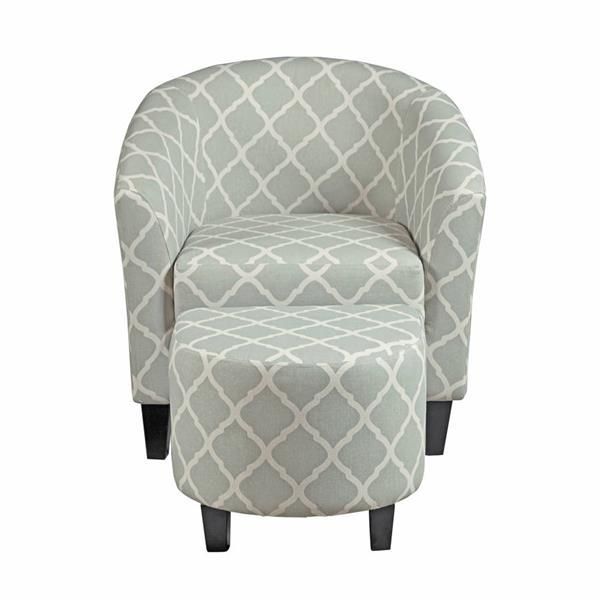 harris accent chair w ottoman