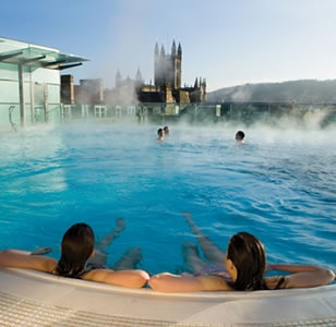 Can you see the hen party in a roof top spa pool on one of Bath Boutique Stay's weekend spa breaks? I think so!