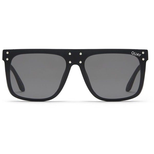 Hidden Hills Sunglasses by Quay X Kylie Jenner (€62) ❤ liked on Polyvore featuring accessories, eyewear, sunglasses, black, metal sunglasses, topshop sunglasses and metal glasses
