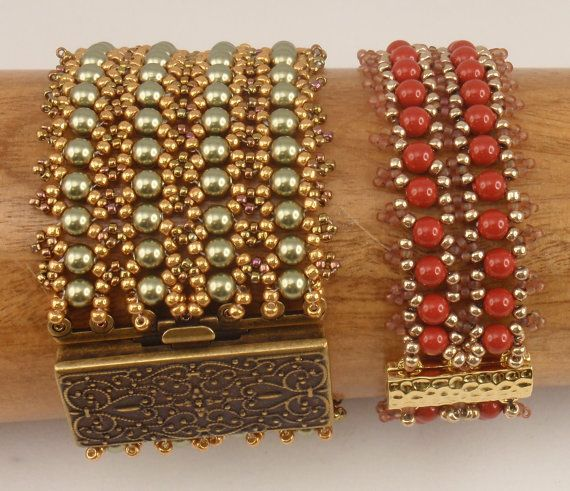 Instructions for Motley Cuff Beading tutorial por njdesigns1