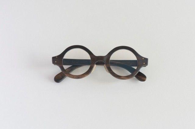 黒柿のラウンド眼鏡【オーダー制作】 - 63mokko
