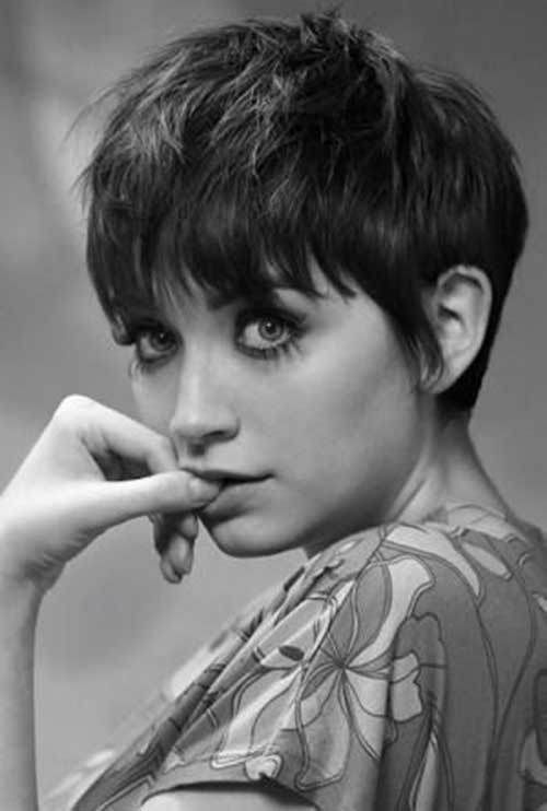 15 Messy Pixie Cuts: #4. Thick Messy Pixie Cut with Bangs