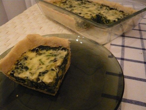 Spinach and Courgette Quiche Recipe