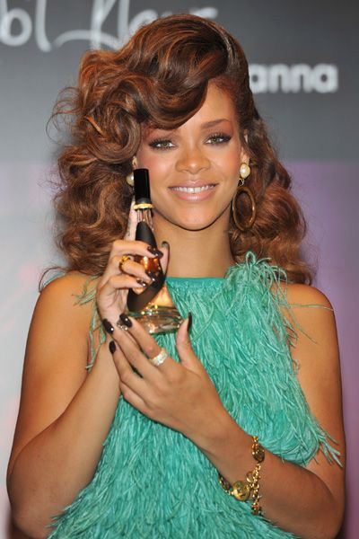 Rihanna in Teal