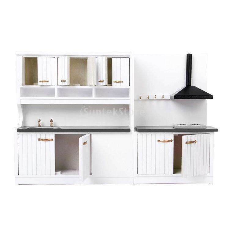 23,70 New 2014 Brand New Dollhouse Furniture Wooden Kitchen Set 1/12 Scale