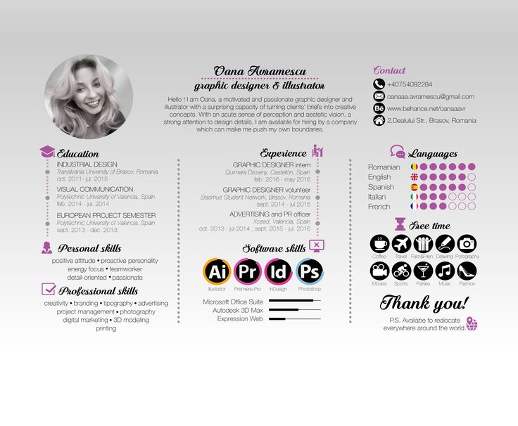 "Check out my @Behance project: ""Protfolio and resume graphic design. Oana…"