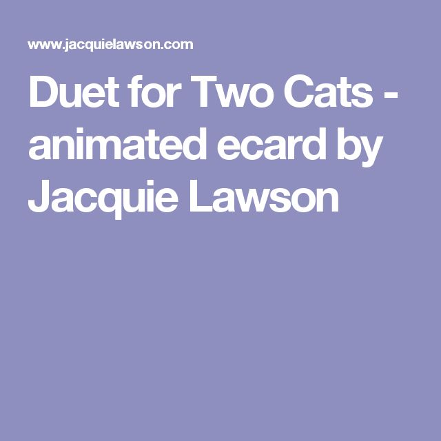 duet for two cats animated ecard by jacquie lawson - Jacquie Lawson Halloween Cards