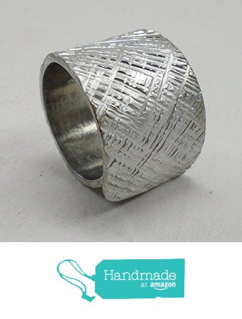 Adjustable aluminum ring handmade forged with cross lines texture. from TOSIANI ART https://www.amazon.co.uk/dp/B01M0XH8SX/ref=hnd_sw_r_pi_dp_Enn7xb8Q39QK7 #handmadeatamazon