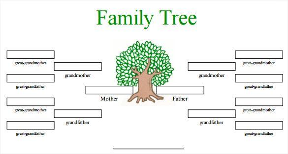 32  blank family tree templates