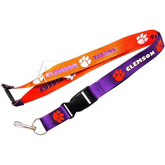 Aminco Clemson Tigers Reversible Lanyard Keychain Ticket ID Holder