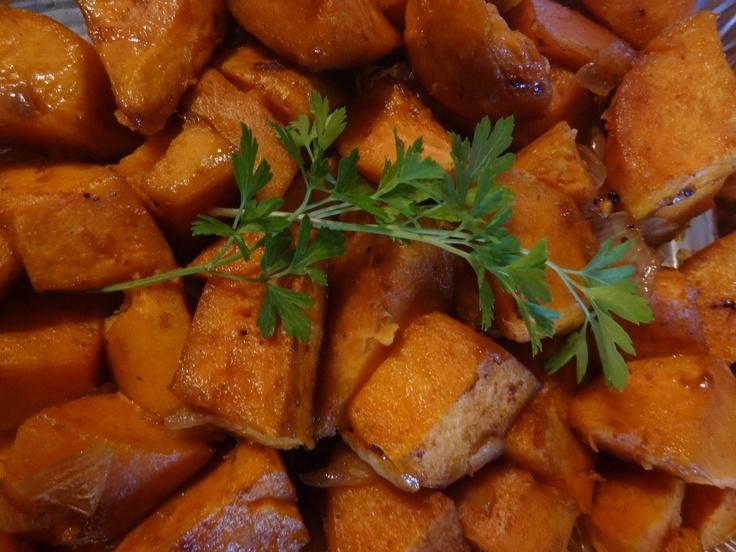 Portuguese Caramelized Sweet Potatoe  www.portuguesediner.com/tiamaria