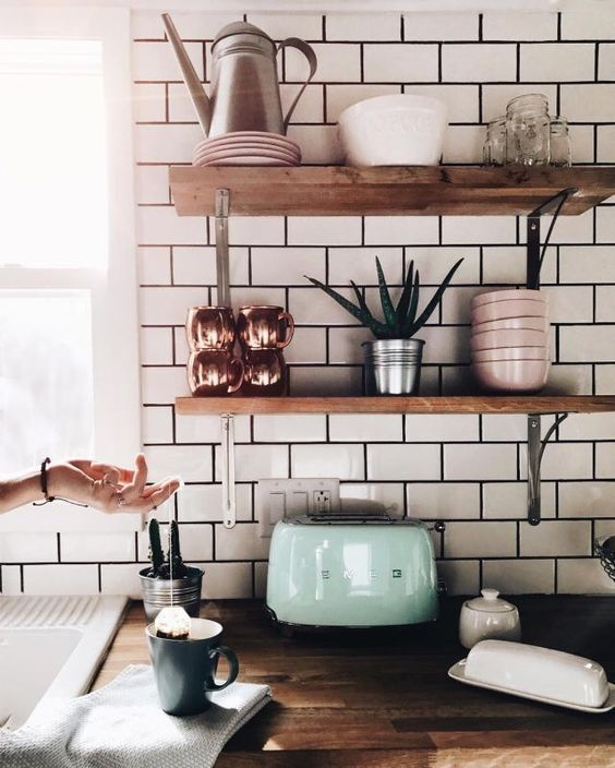 Amazing shelves design idea. #shelvesdesign #homedesign #floatingshelves