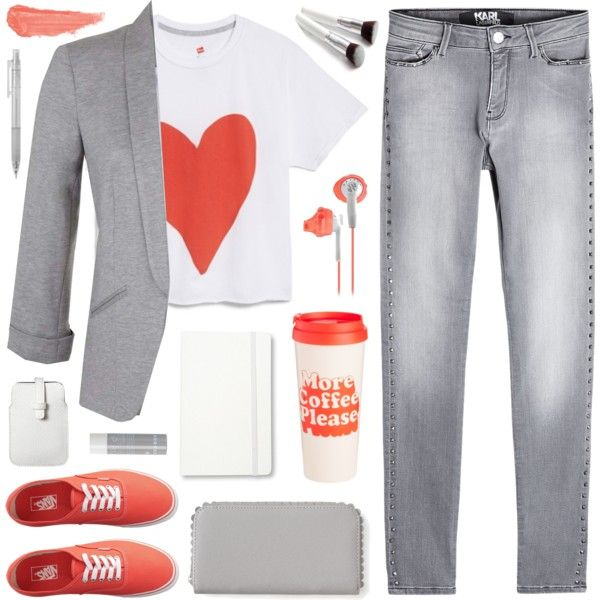Heart t-shirt by deepwinter on Polyvore featuring moda, Hanes, Miss Selfridge, Karl Lagerfeld, Vans, Aéropostale, Mossimo, By Terry, Korres and Moleskine