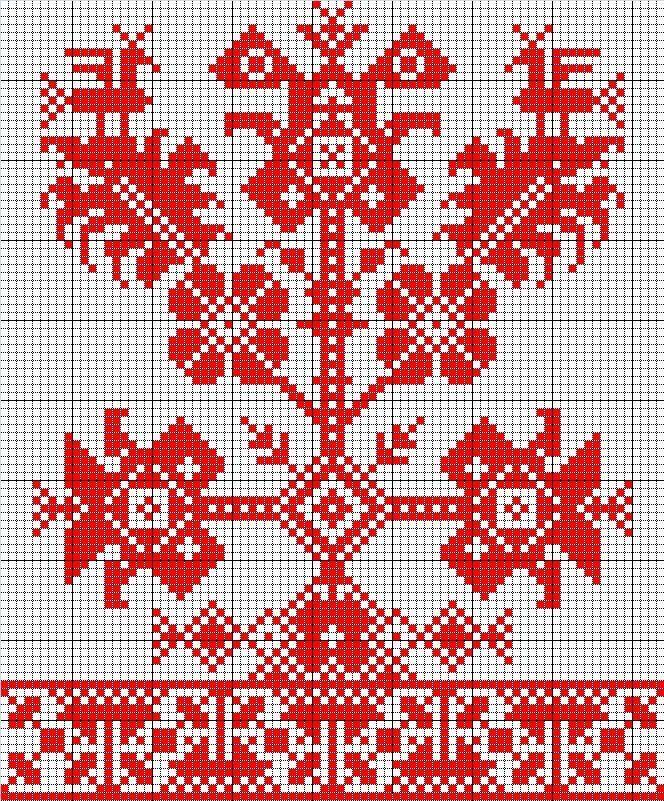 Вышивка русского рушника схемы