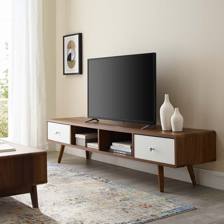 Media Console Wood Tv Stand, Tv Stand Media Storage Cabinet