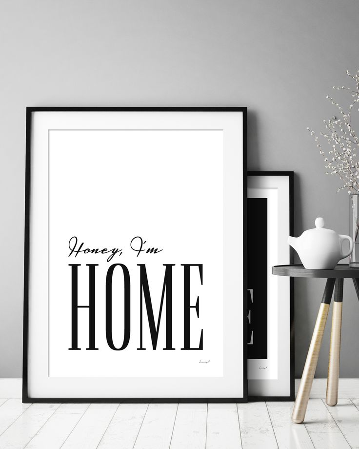 Honey I'm Home | Make a statement with mid century modern style prints and posters by Lucky 5 | 50s style wall art