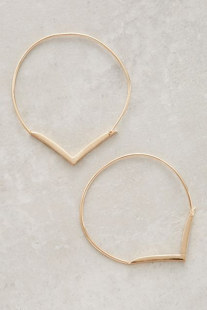 Vanellus Hoops - Jules Smith #anthropologie