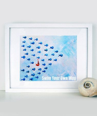 Look what I found on #zulily! Blue 'Swim Your Own Way' Print by Cici Art Factory #zulilyfinds