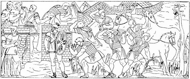 83 De Romeinse soldaten fourageren.