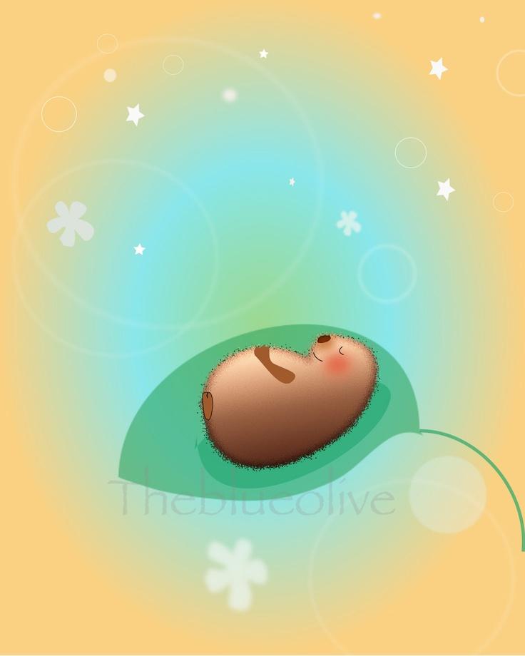 Children art print Baby nursery art print  by theblueolive.  via Etsy.
