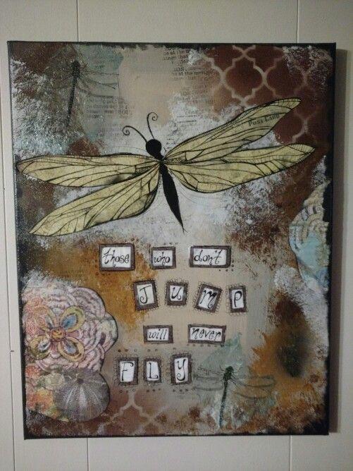 #mixedmedia #dragonflycanvas #perfectlyimperfectdesigns