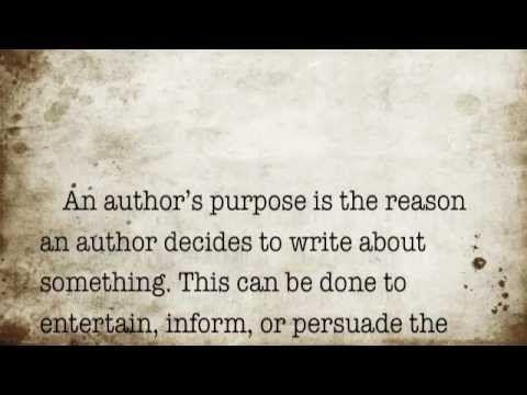 ▶ Author's Purpose Activity - YouTube