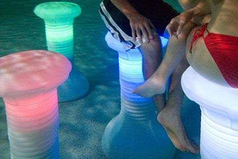 Our lighted LED Pool Stool is an impressive product! Plus, we've got the lowest price on this cool pool accessory!