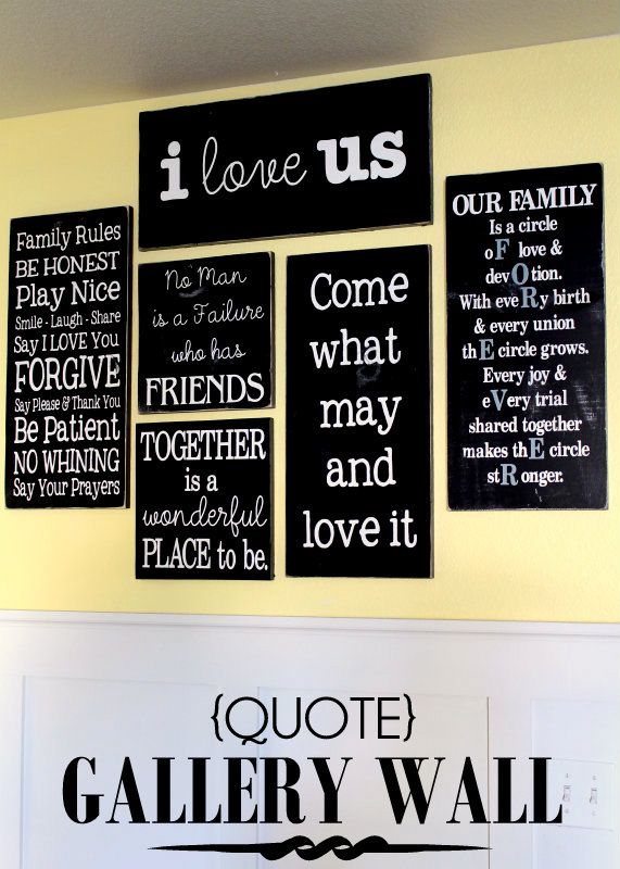 Quote Gallery Wall Love This Lilluna Com She Made