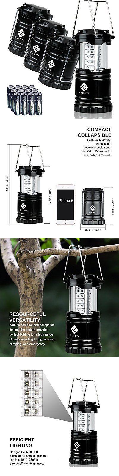 Lanterns 168867: Etekcity Lanterns 4 Pack Portable Outdoor Led Camping Lantern With 12 Aa (Black, -> BUY IT NOW ONLY: $39.78 on eBay!