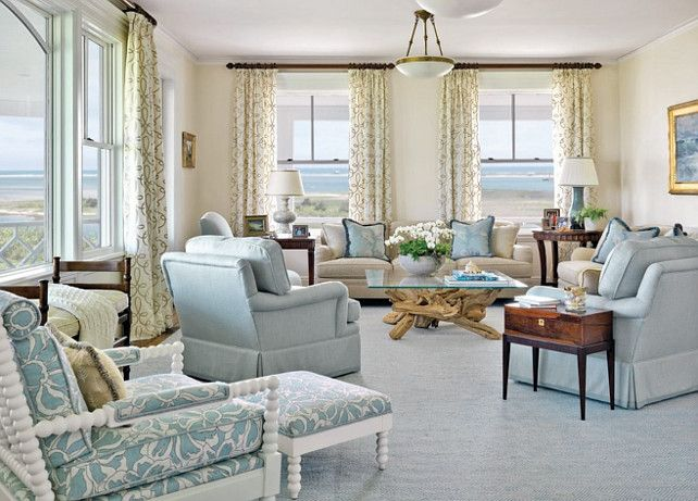 LIVING ROOM   FAMILY ROOM   Another great example of elegant design for a  coastal look. 119 best images about Living Room Design on Pinterest   Coastal