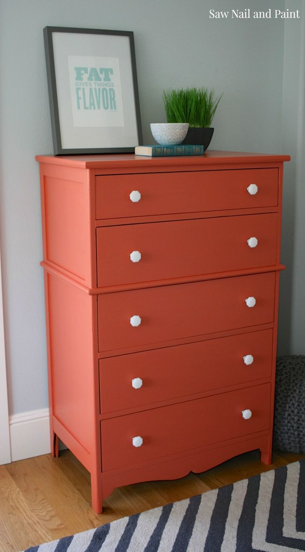orange dresser side