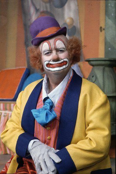 Bob Keeshan as the Town Clown on the Captain Kangaroo television series