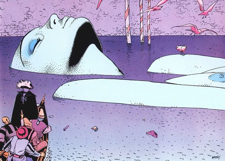 Since the world drifts into delirium, we must adopt a delirious point of view  Drawings by Moebius (Jean Giraud)