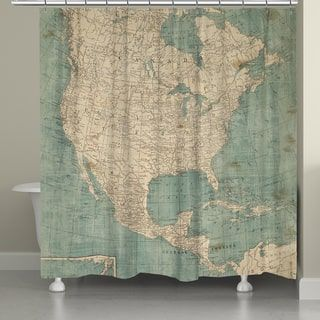 Shop for Laural Home Map of North America Shower Curtain (71 inches x 72 inches). Get free delivery at Overstock.com - Your Online Bath