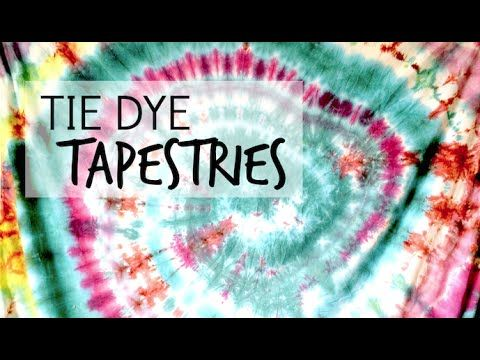 Tie Dye Tapestry DIY Tutorial - YouTube