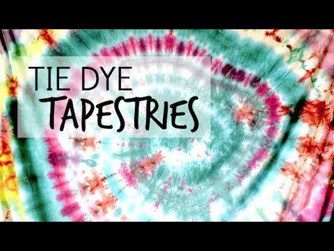 Tie Dye Tapestry DIY Tutorial - YouTube // bday idea// outdoors// 2 fabrics// fabric spray paint