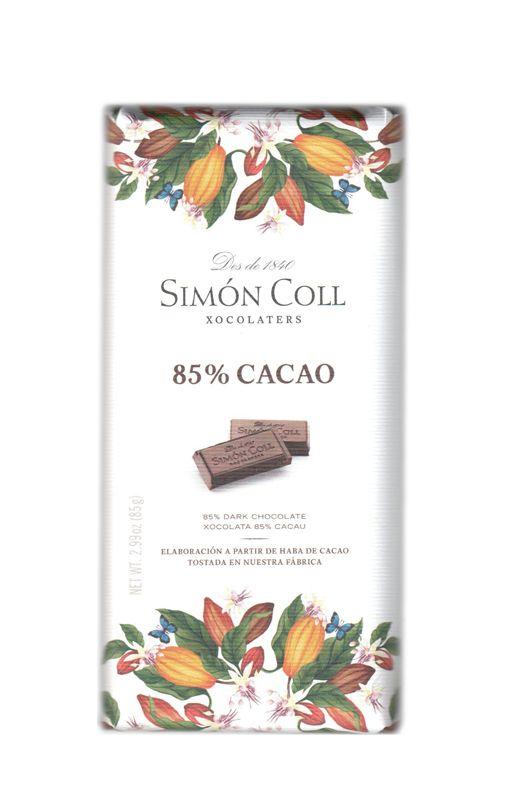 Simon Coll 85g. Ciocolata neagra 85% cacao FARA GLUTEN