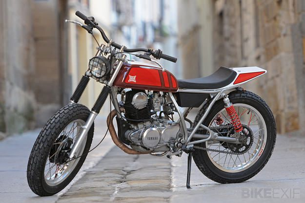 This slim and agile Yamaha SR250 street tracker is the first product from a new Barcelona workshop called Reborn Motors. Light and maneuverable, it's perfect for tight city streets and gravel tracks further afield.